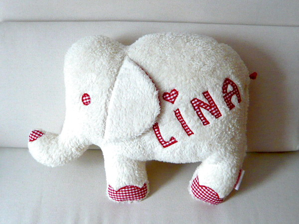 namenskissen elefant geschenk baby geburt paulili. Black Bedroom Furniture Sets. Home Design Ideas